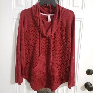 Knit shirt burgundy